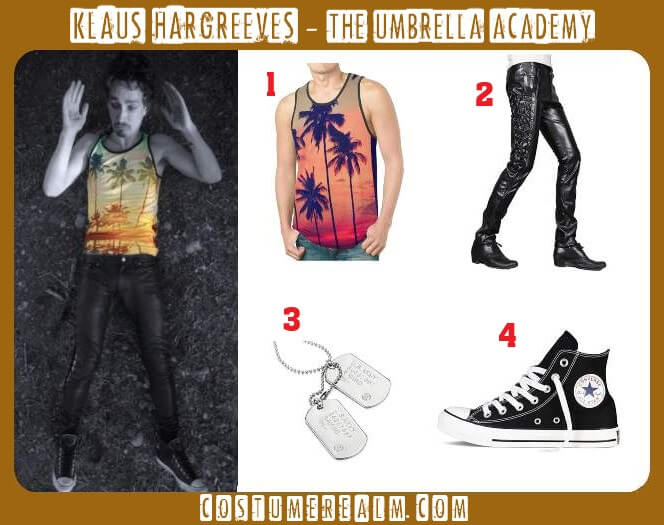 klaus hargreeves outfits