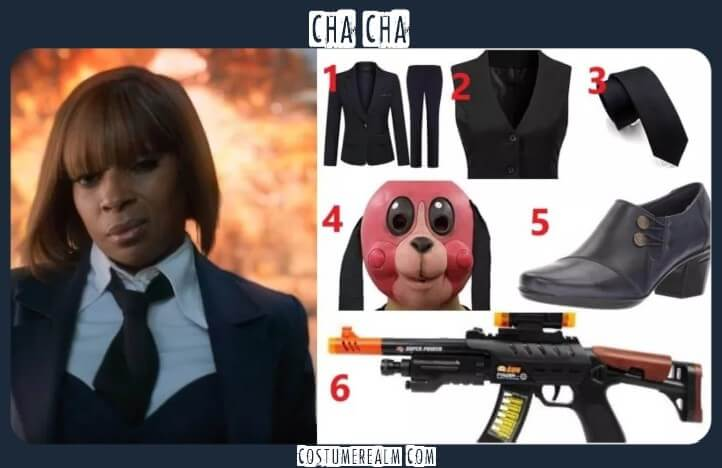Umbrella Academy ChaCha Outfits, cosplay costumes
