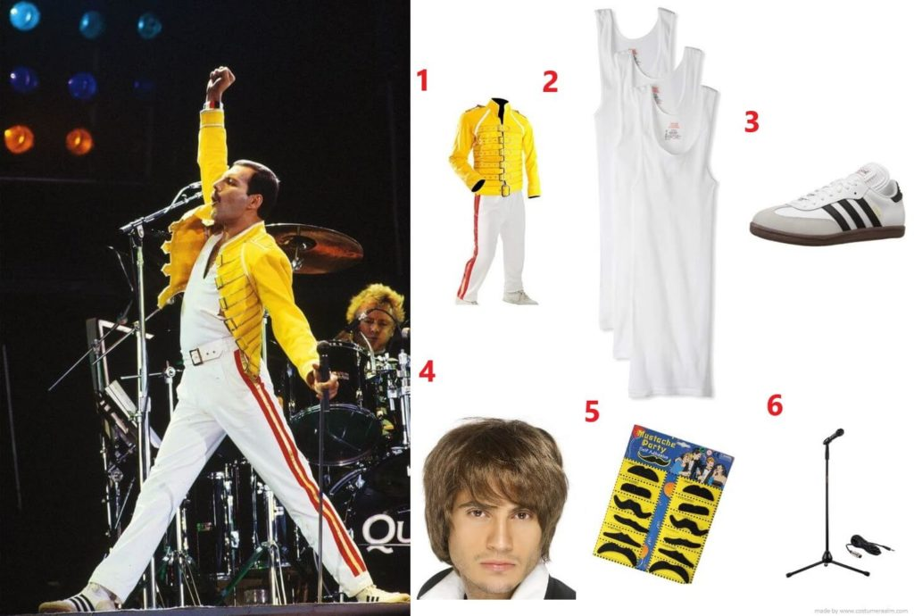 Freddie Mercury Yellow Jacket Outfits