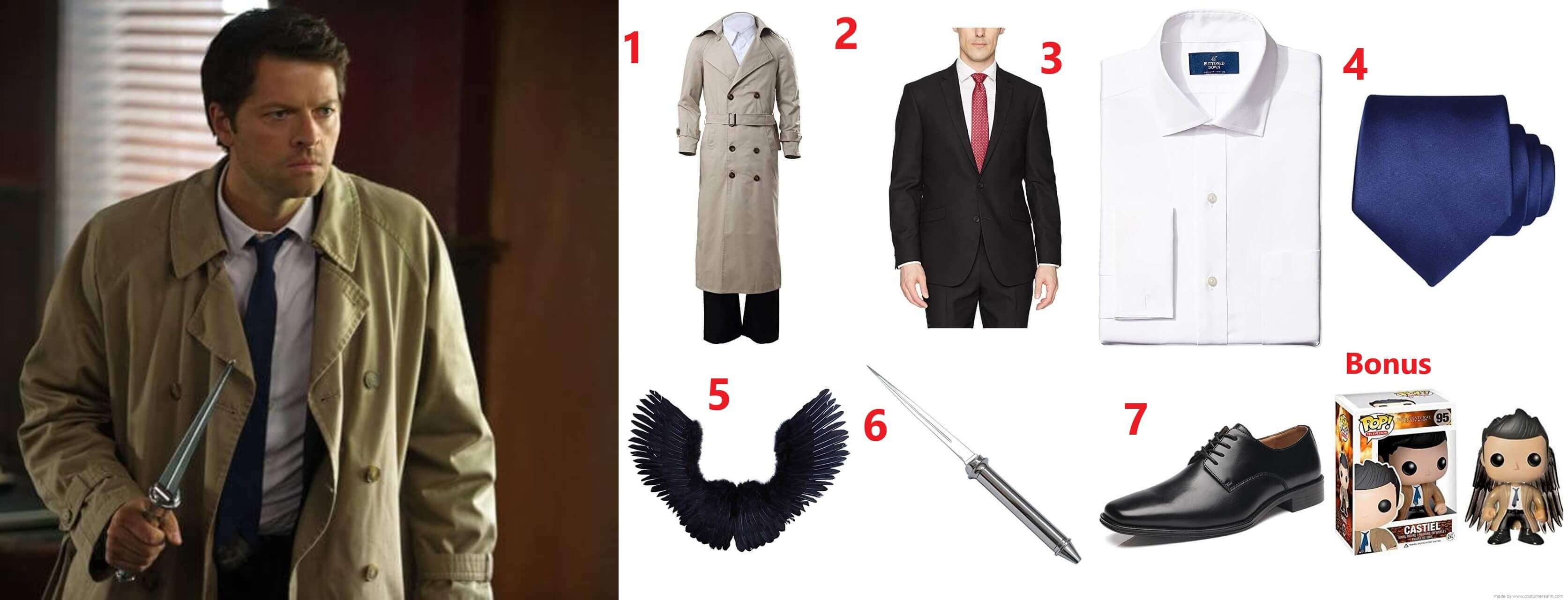 Diy Halloween Cosplay Fancy Dress Costume Guides Castiel