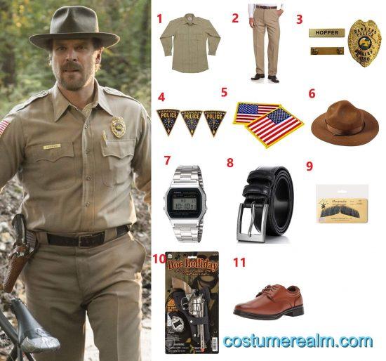Jim Hopper Uniform Costume