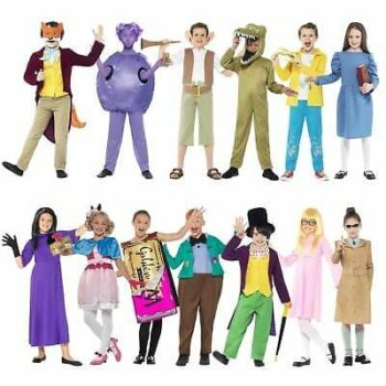 Girls Roald Dahl The Witches Costume Book Week Day Fancy Dress Outfit Kids
