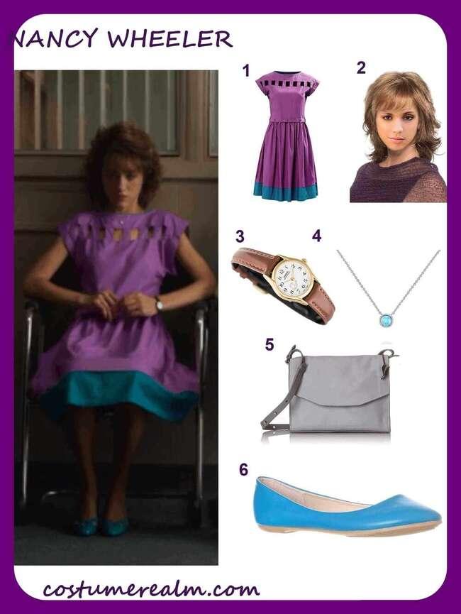 How To Dress Like Nancy Wheeler (Purple Dress)