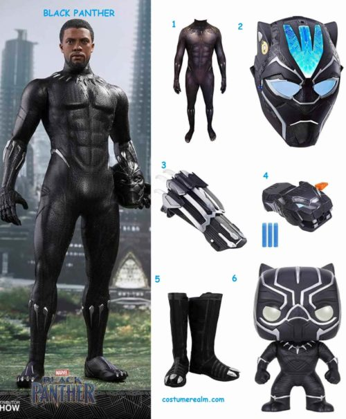 Black Panther Halloween Costumes 2020 Dress Lile Black Panther Costume Guide, Diy, Marvel Hallowen