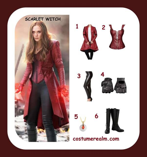 How To Dress Like Scarlet Witch Costume