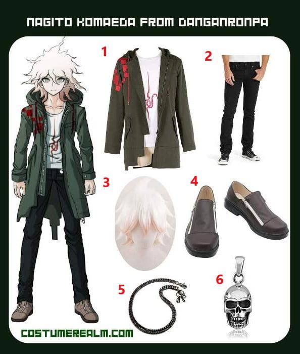 How To Dress Like Nagito Komaeda Costume Guide Diy Nagito