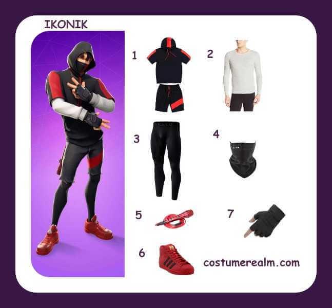 Dress Like Ikonik From Fortnite Diy Fortnite Halloween