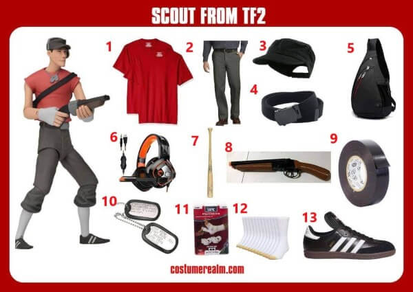 Diy TF2 Scout Costume