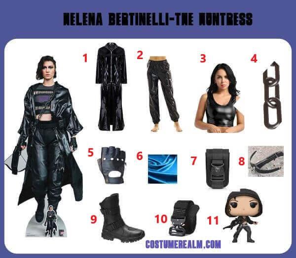 How To Dress Like Helena Bertinelli Costume Guide Birds Of Prey Huntress Costume Diy