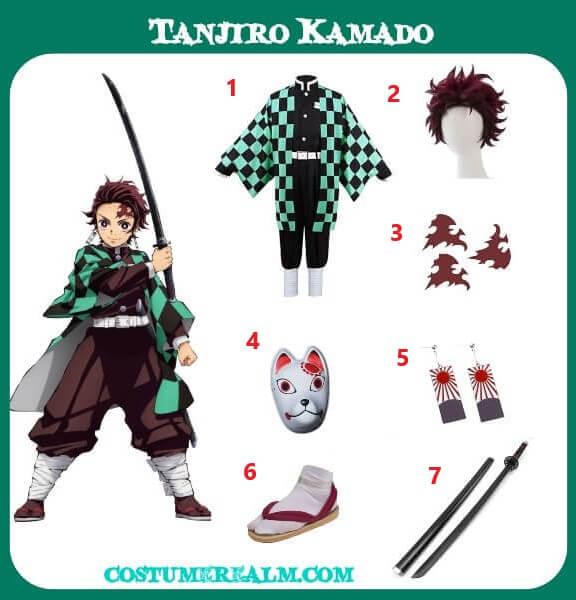 Diy Tanjiro Kamado Costume