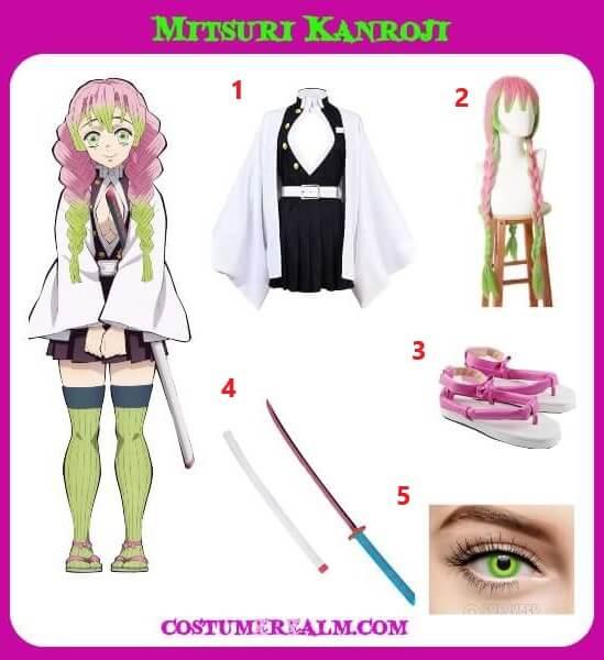 How To Dress Like Mitsuri Kanroji Costume Guide Diy Demon Slayer Mitsuri Kanroji Costume Tutorial Demon slayer mitsuri kanroji nichirin katana sword. dress like mitsuri kanroji costume