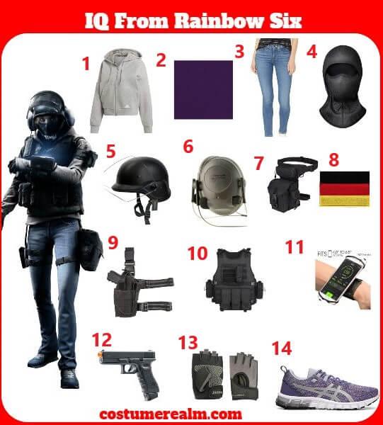 Rainbow Six Siege Halloween Costumes 2020 How To Dress Like Rainbow Six IQ Costume Guide, Diy Rainbow Six IQ