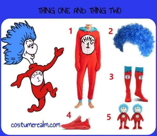 Diy Thing One And Thing Two Costume