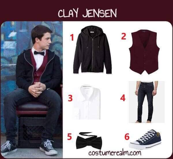 Clay Jensen Uniform Costume