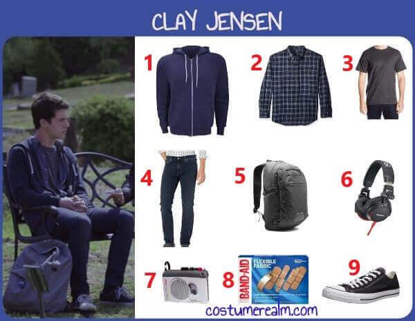 Diy Clay Jensen Costume