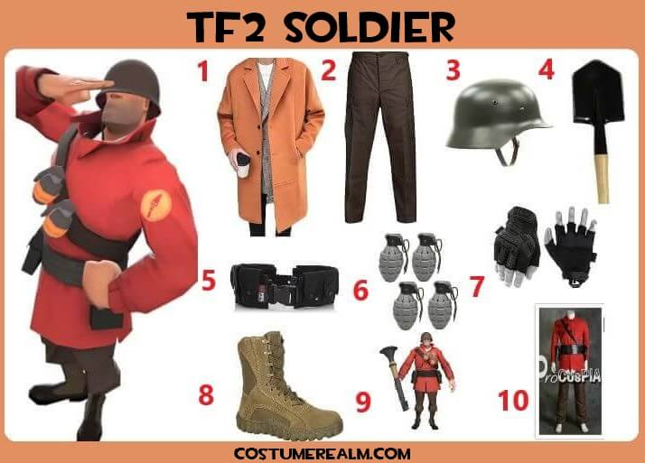 Tf2 Halloween 2020 How To Dress Like TF2 Soldier Costume Guide