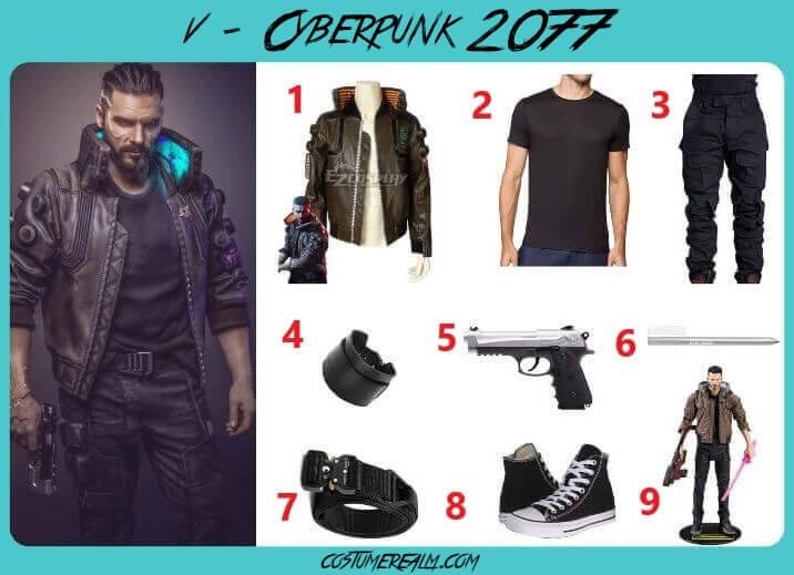 Cyberpunk 2077 V Cosplay For Men