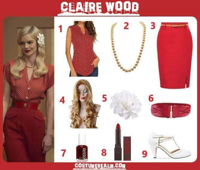 Hollywood Claire Wood Costume