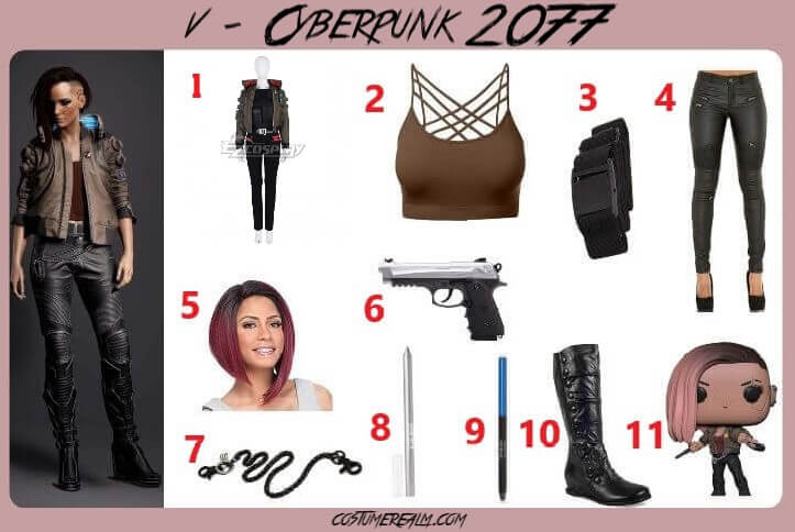 Cyberpunk 2077 V Cosplay For Women