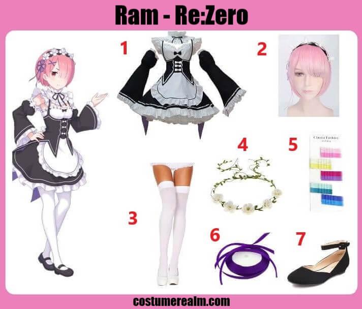 Re:Zero Ram Cosplay Costume