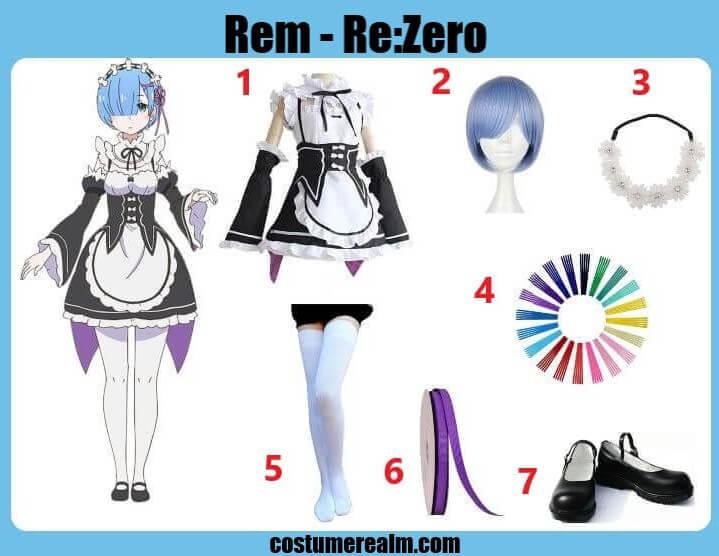 Re:Zero Rem Halloween Costume