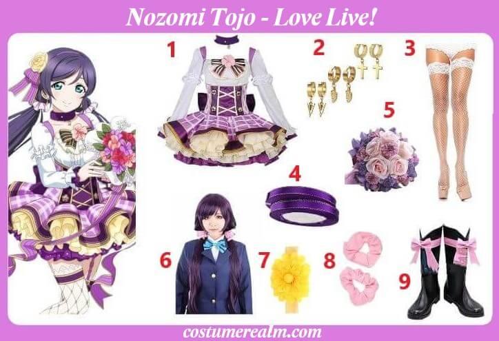 Nozomi Tojo Cosplay Costume