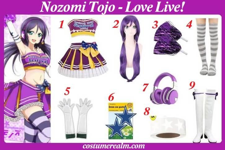 Nozomi Tojo Cheerleader Costume