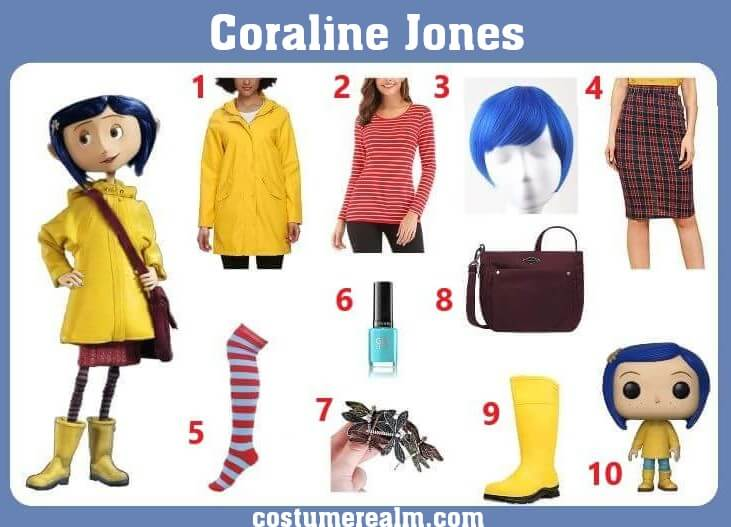 Coraline Jones Halloween Costume 2020