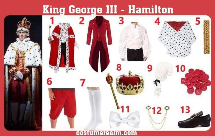 King George 3 Costume