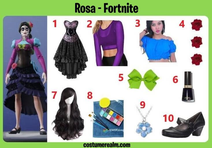 Fortnite Rosa Cosplay
