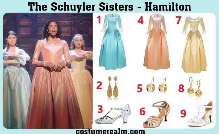 Schuyler Sisters Outfits