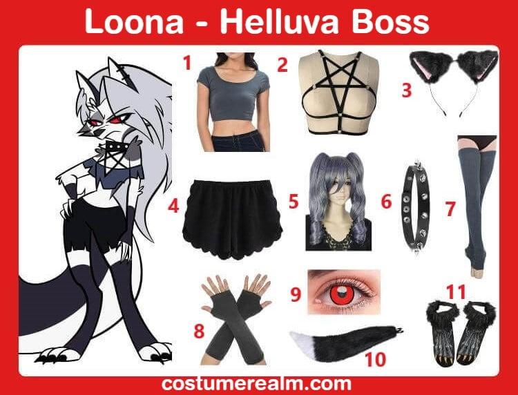 Helluva Boss Loona Costume