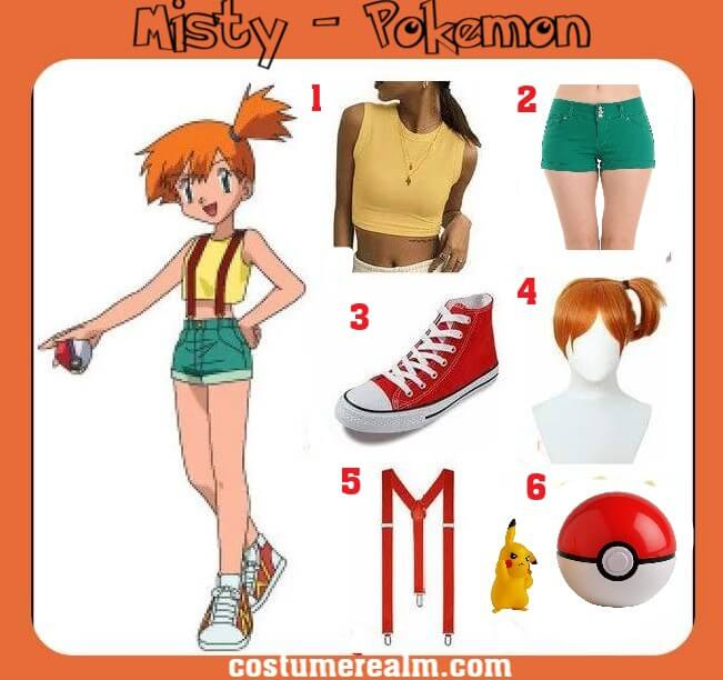 Pokemon Misty Costume