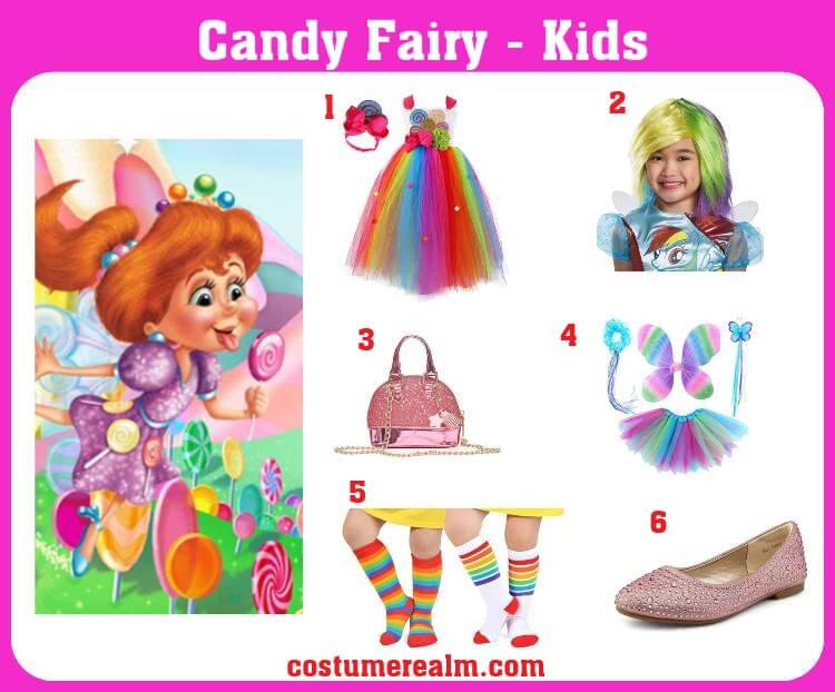 Kids Candy Fairy Costume