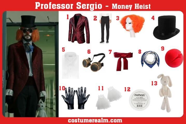 Professor Sergio Clown Costume