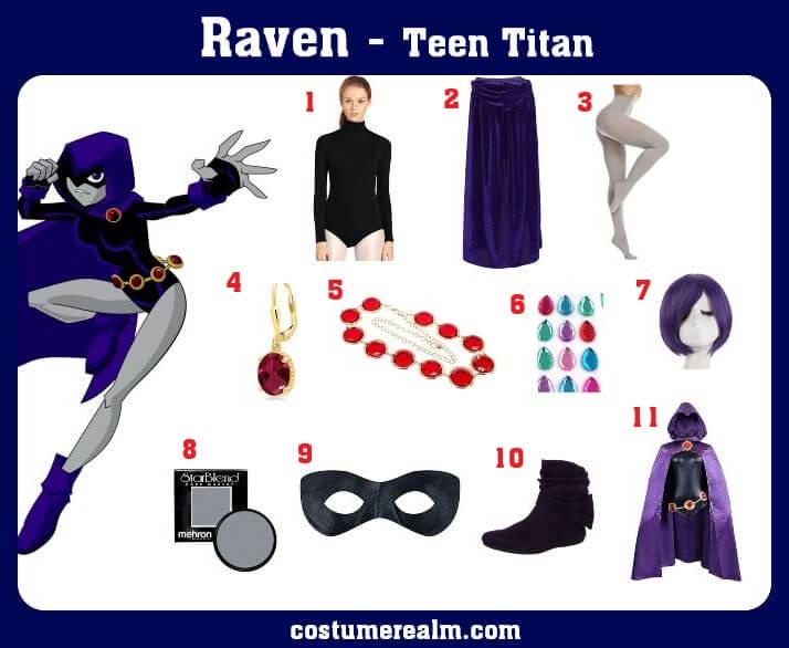 Teen Titans Raven Costume
