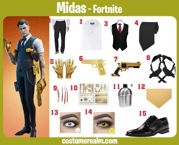 Fortnite Midas Costume