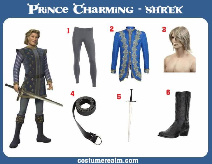 Shrek Prince Charming Costume