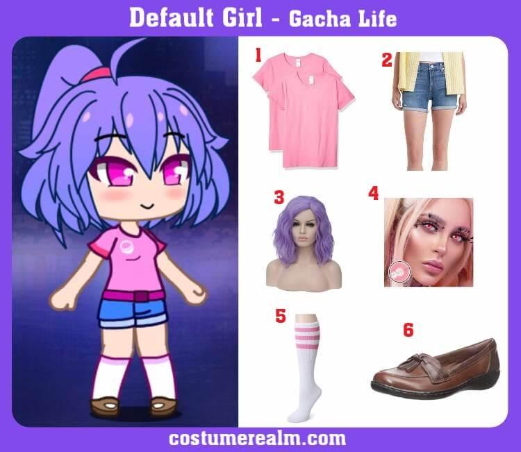 Gacha Life Default Girl Costume