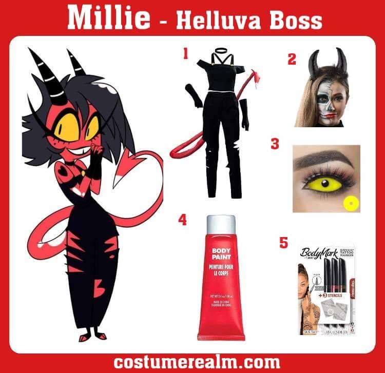 Helluva Boss Millie Costume